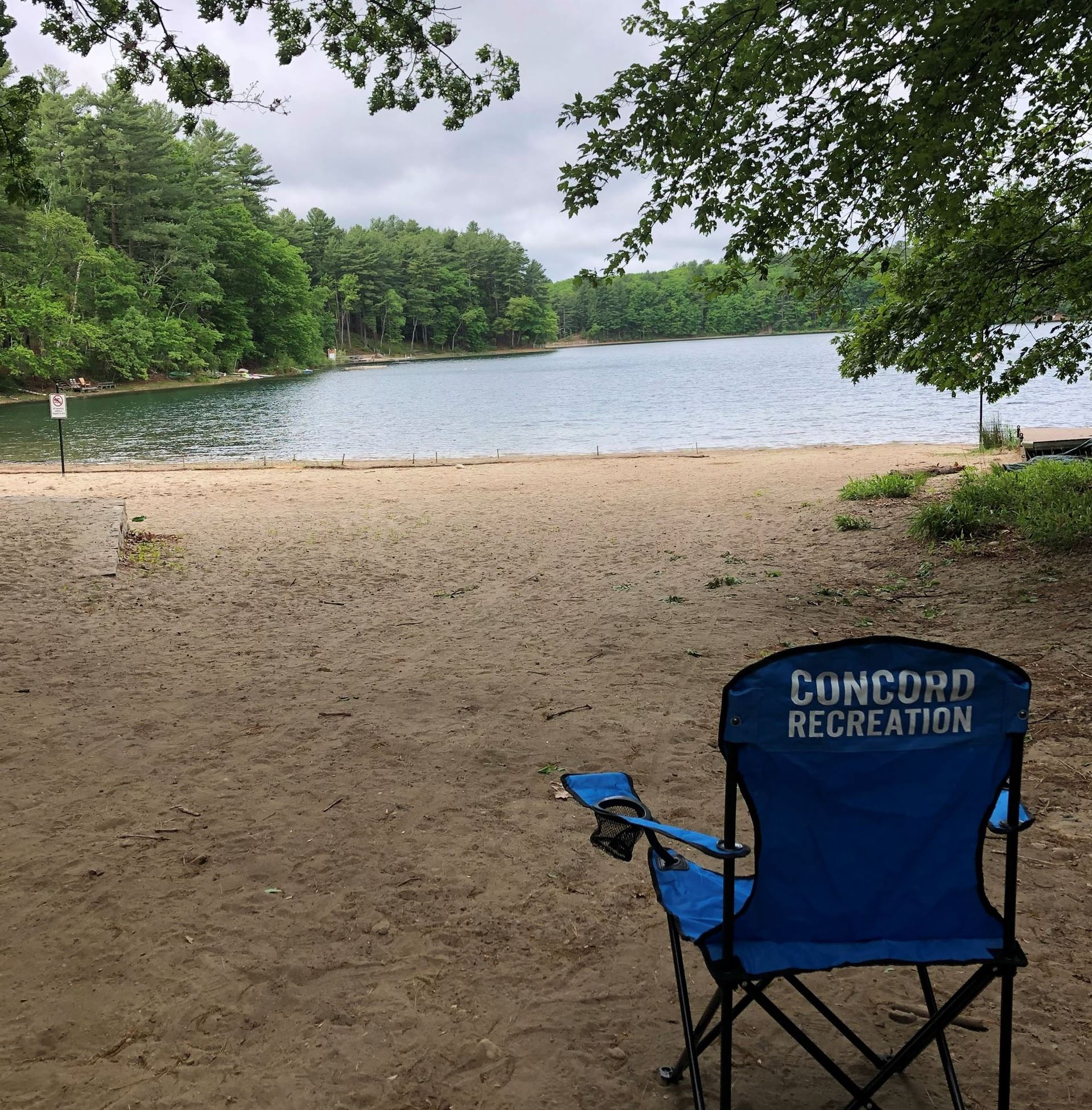 White pond beach chair